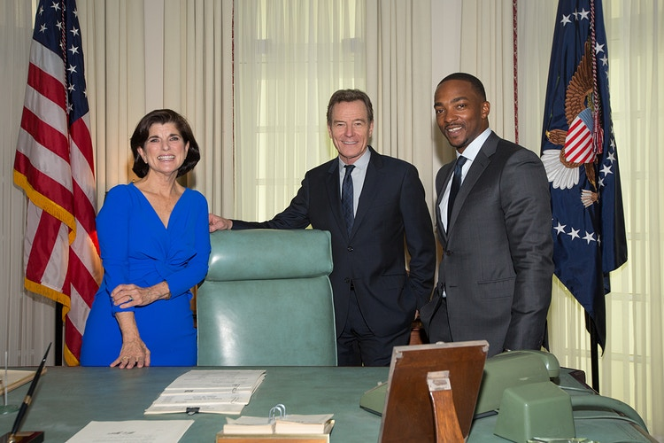 Luci Baines Johnson, Bryan Cranston, and Anthony Mackie - Suzanne Cordeiro Photography