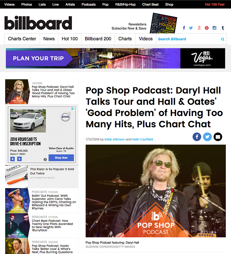 Daryl Hall - Billboard Magazine - Suzanne Cordeiro Photography