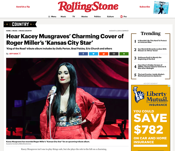 Rolling Stone, Kacey Musgraves - Suzanne Cordeiro Photography