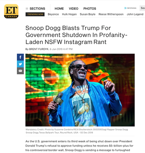 Snoop Dogg - Entertainment Tonight Jan 2019 - Suzanne Cordeiro Photography