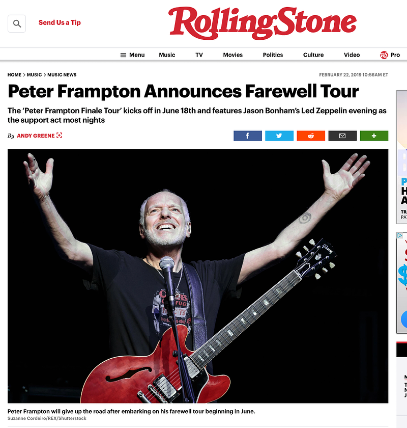 Peter Frampton - Rolling Stone 2019 - Suzanne Cordeiro Photography