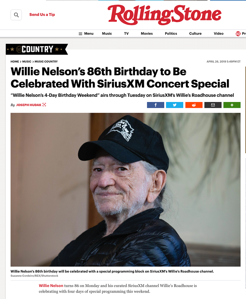 Willie Nelson - 2019 Rolling Stone - Suzanne Cordeiro Photography
