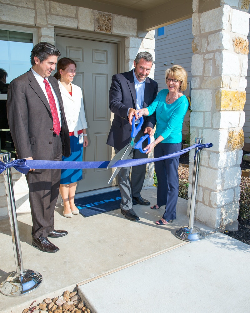 Lennar Homes ribbon cutting - Suzanne Cordeiro Photography