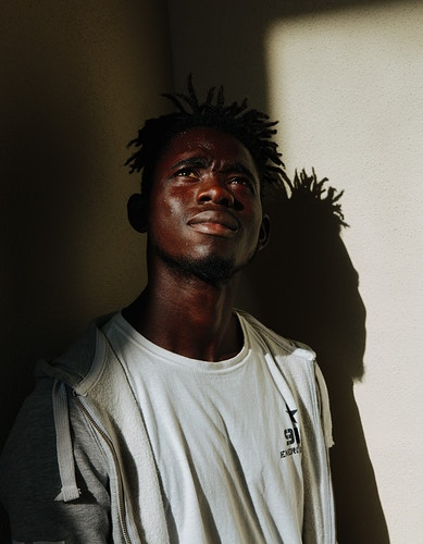Young migrant man in Cagliari, Sardinia, 2018 - ALEX CRETEY SYSTERMANS