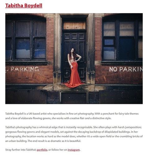 Press - TABITHA BOYDELL PHOTOGRAPHY
