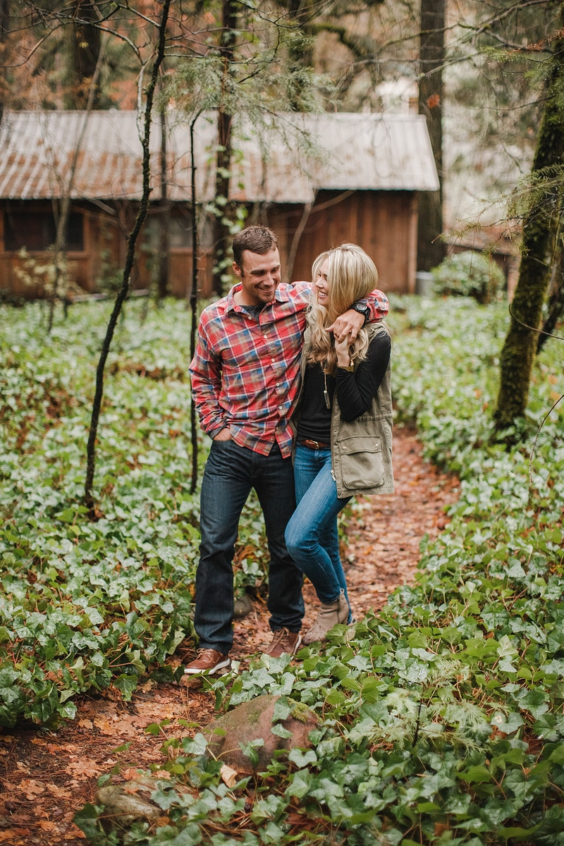 Erika Anthony Engaged In The Woods Northern California Wedding Photographer - Taylor McCutchan Photography -Northern, California wedding photographer-