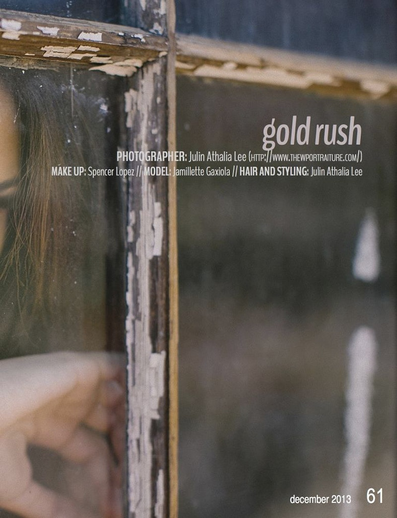 Gold Rush For Lost Freedom Magazine - THE W PORTRAITURE