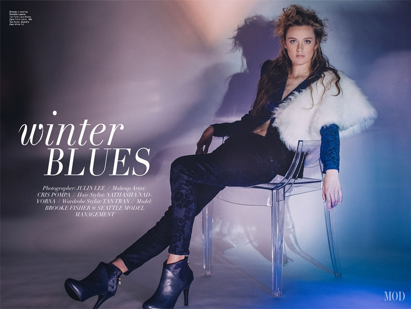Winter Blues For Mod Magazine - THE W PORTRAITURE