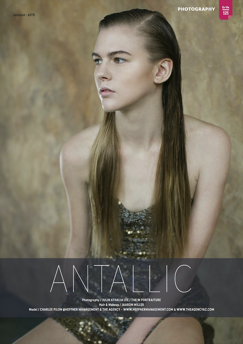 Antallic For En Vie Magazine - THE W PORTRAITURE
