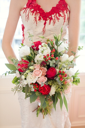 Crimson Red For Westchester Wedding Magazine - THE W PORTRAITURE