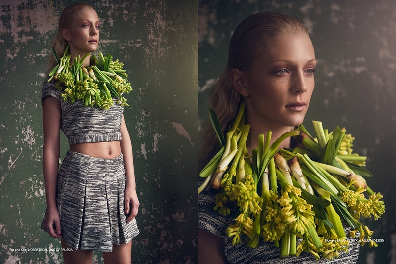 model editorial Jocelyn Reinhard Agency flower necklace Tobias Hibbs THP Adam Raymond Emily Bleasdale Allium Floral Design - Editorial Fashion Portrait Photography Lehigh Valley Philadelphia | Tobias Hibbs