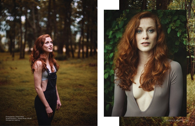 field Pennsylvania PA Poconos model redhead Maddy Moyer Model Management Agency fashion editorial THP published Borealis Magazine - Editorial Fashion Portrait Photography Lehigh Valley Philadelphia | Tobias Hibbs