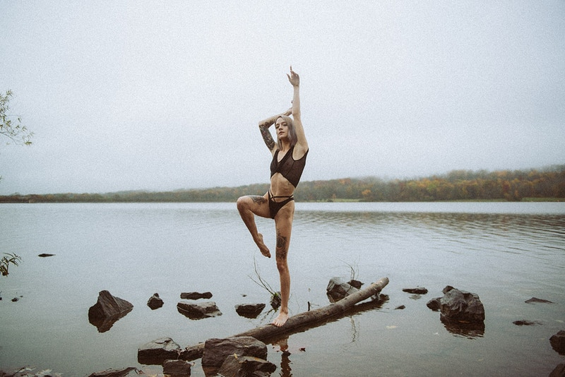 published, fine art, alt, tattoo, portrait, balance, gynmast, lake, fog - Editorial Fashion Portrait Photography Lehigh Valley Philadelphia | Tobias Hibbs
