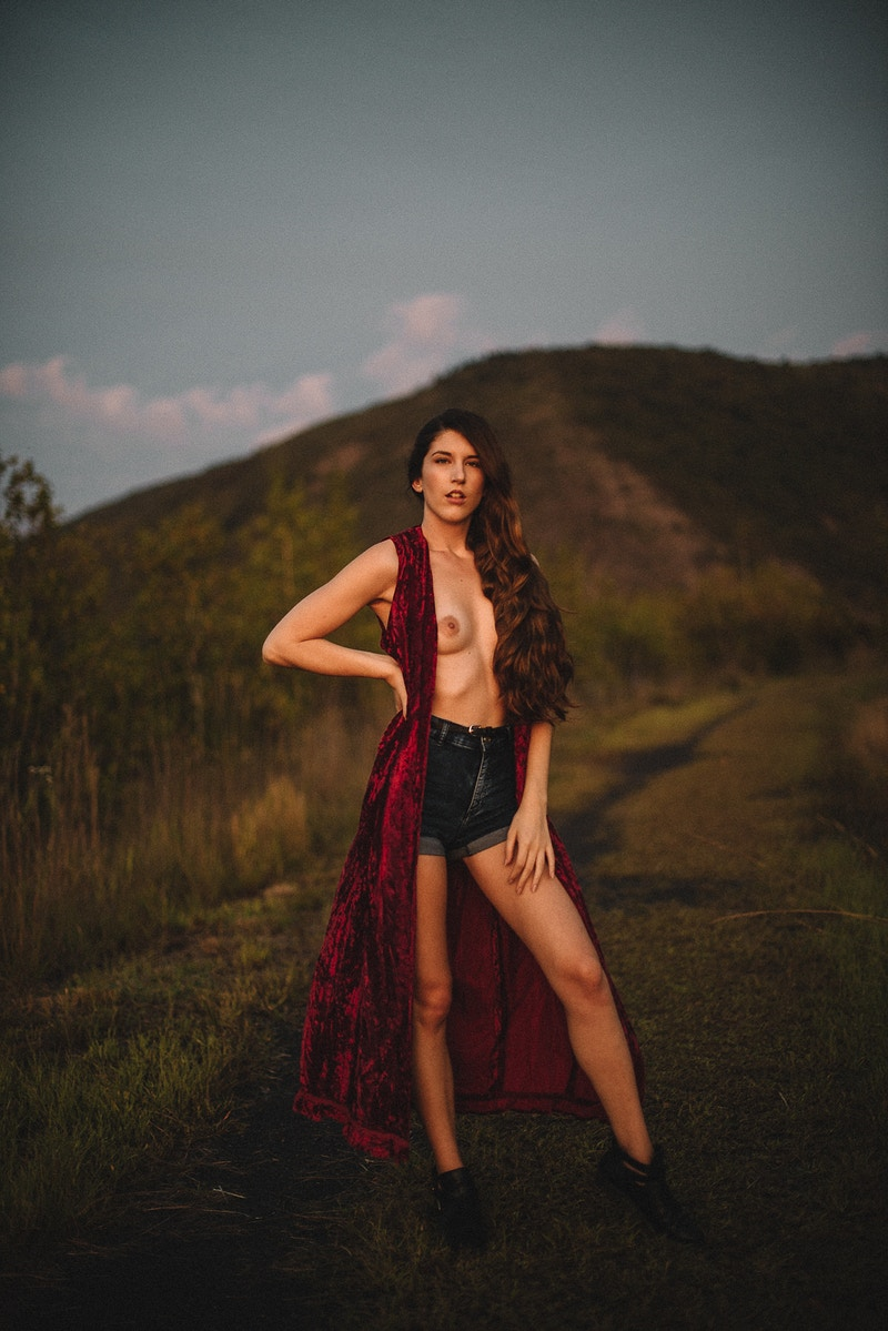Breanna Marie THP Tobias Hibbs fashion editorial Palmerton PA portrait sunset nude breast topless - Editorial Fashion Portrait Photography Lehigh Valley Philadelphia | Tobias Hibbs