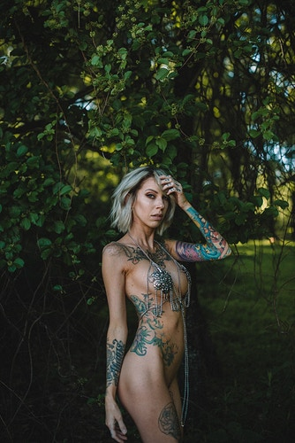Jennifer Lynn nude tattoo fine art alt naked forest - Editorial Fashion Portrait Photography Lehigh Valley Philadelphia | Tobias Hibbs