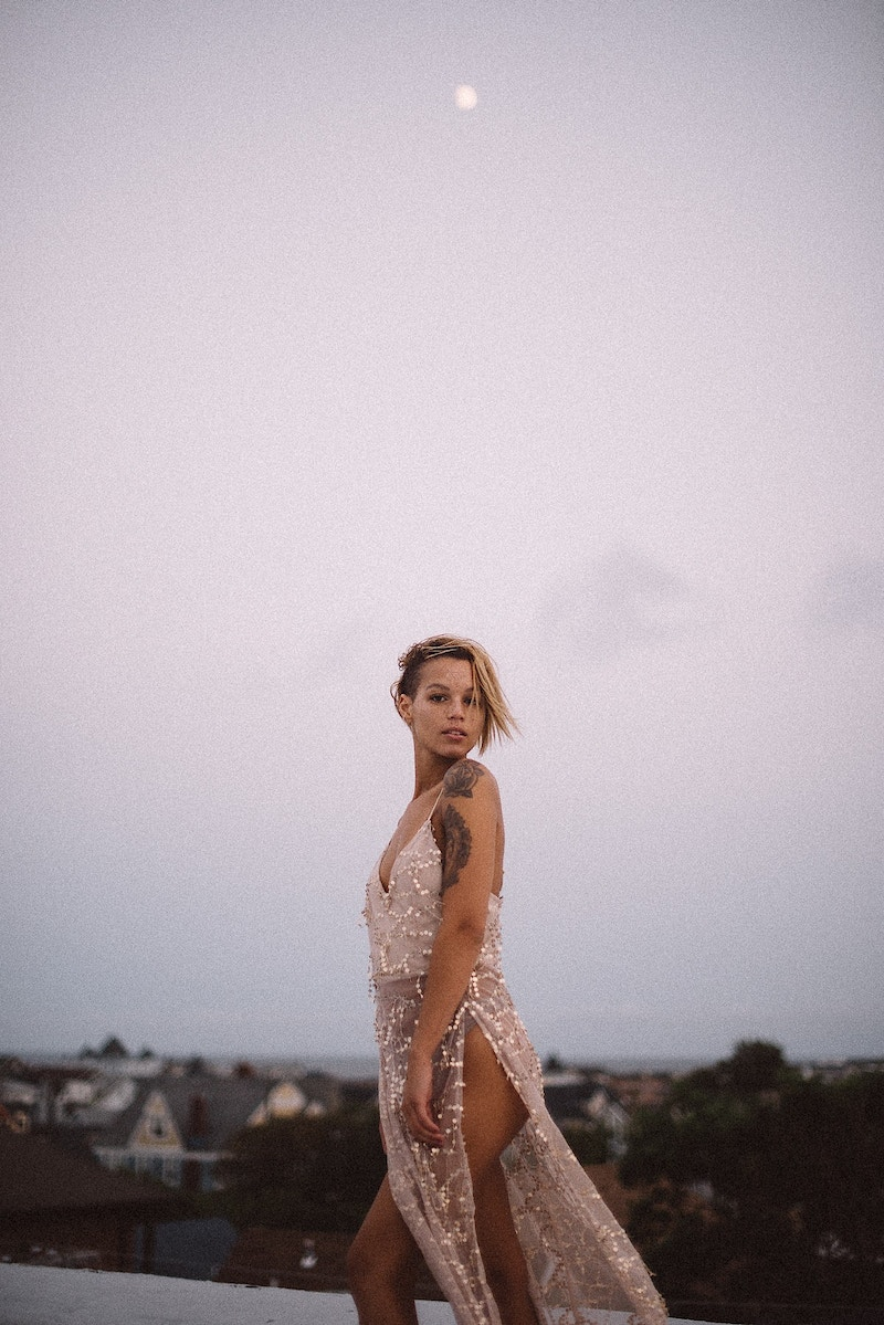 published Lovebite Magazine portrait Jessica NJ beach sand ocean portrait sheer gown moon - Editorial Fashion Portrait Photography Lehigh Valley Philadelphia | Tobias Hibbs