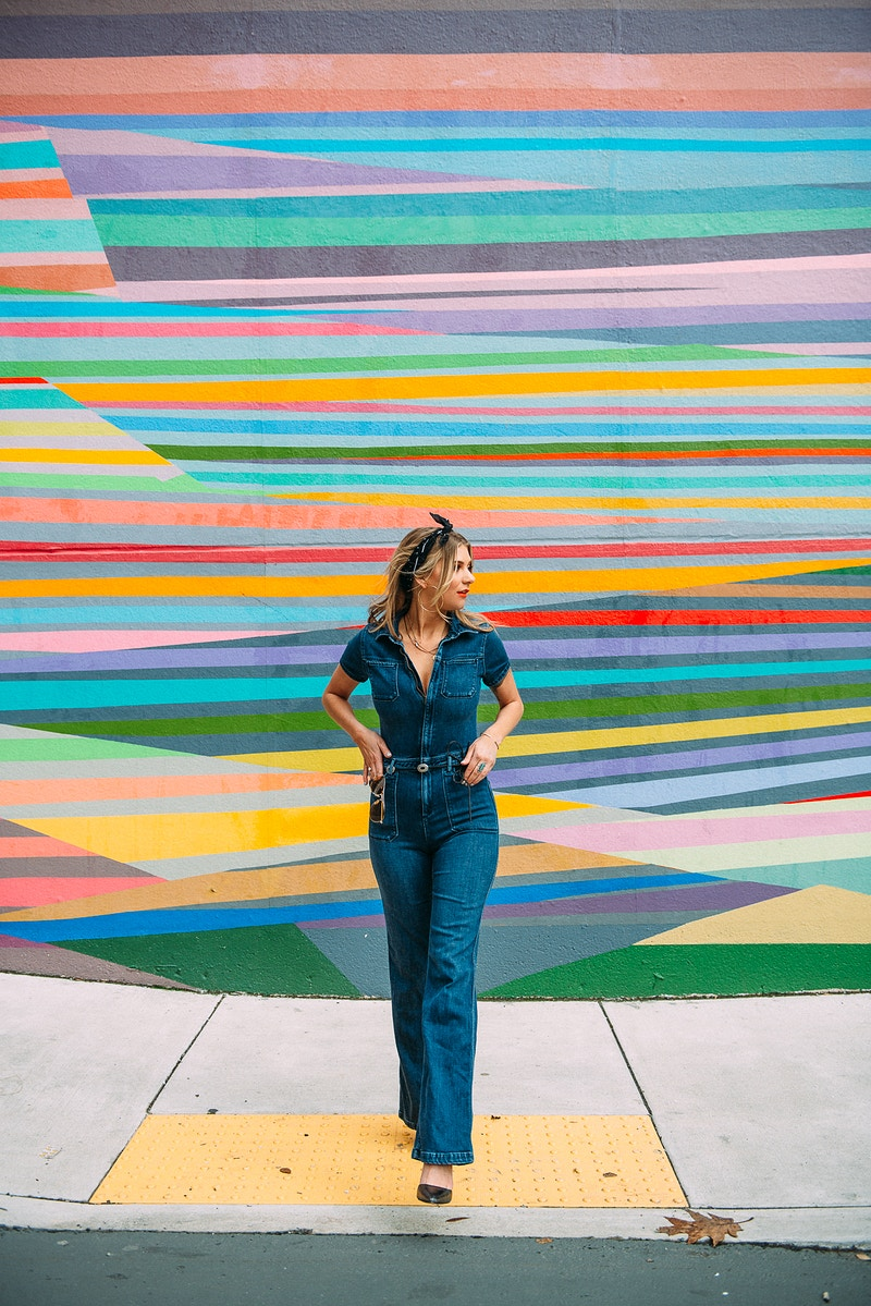 fasion editorial lifestyle THP Tobias Hibbs portrait Meraki Allentown mural rainbow jumpsuit - Editorial Fashion Portrait Photography Lehigh Valley Philadelphia | Tobias Hibbs