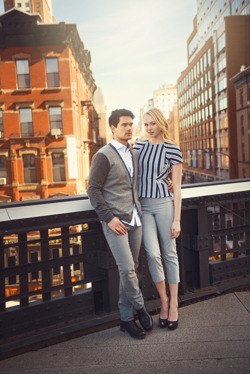 Cobbler Concierge Company lifestyle NYC Tobias Hibbs Fawn Monique MUA Alisha Nycole New York High Line couple portrait - Editorial Fashion Portrait Photography Lehigh Valley Philadelphia | Tobias Hibbs