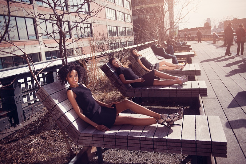 Cobbler Concierge Company lifestyle NYC Tobias Hibbs Fawn Monique MUA Alisha Nycole New York High Line sun bathing models - Editorial Fashion Portrait Photography Lehigh Valley Philadelphia | Tobias Hibbs
