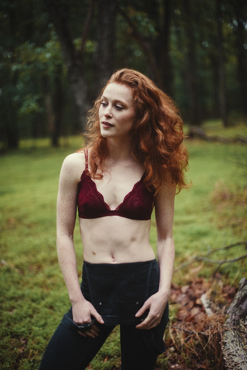 forest woods Pennsylvania PA Poconos model redhead Maddy Moyer Model Management Agency fashion editorial THP published Borealis Magazine - Editorial Fashion Portrait Photography Lehigh Valley Philadelphia | Tobias Hibbs