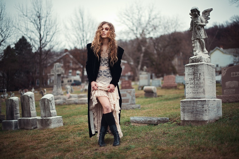 graveyard vintage fashion editorial Tobias Hibbs THP Megan Sawey Molly Jensen Michele Wilderman mua - Editorial Fashion Portrait Photography Lehigh Valley Philadelphia | Tobias Hibbs