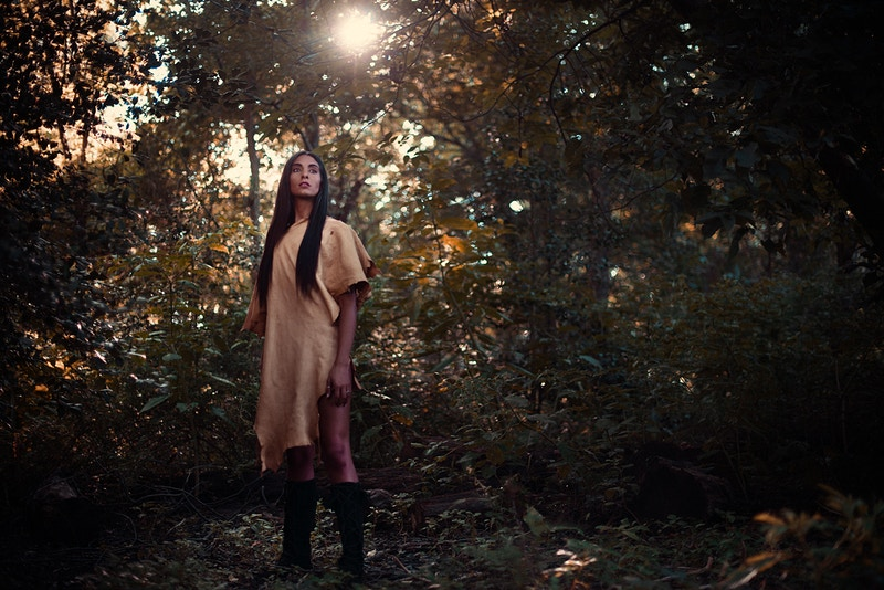 Paris fashion editorial published Tobias Hibbs model THP Fawn Monique MUA Native American history pelt deerskin hide forest woods - Editorial Fashion Portrait Photography Lehigh Valley Philadelphia | Tobias Hibbs