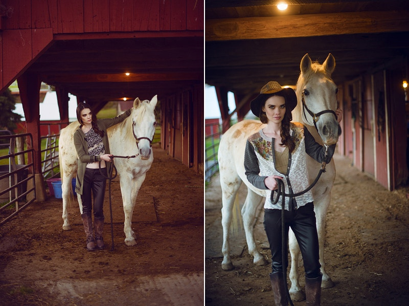 model editorial Amanda Tobias Hibbs THP portrait Adam Raymond Katelynn Walsh mua Emily Bleasdale farm country hay barn horse animal - Editorial Fashion Portrait Photography Lehigh Valley Philadelphia | Tobias Hibbs
