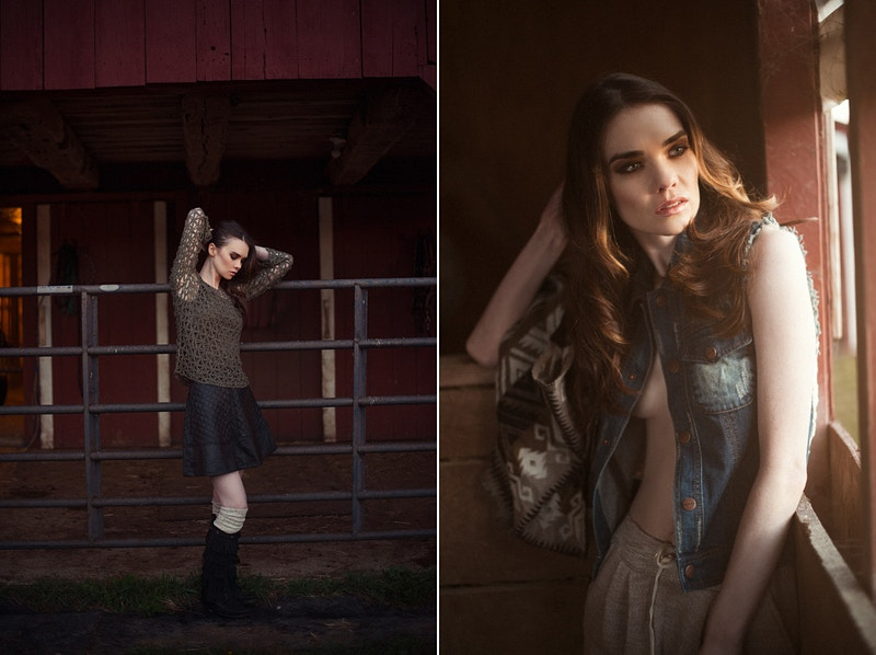 model editorial Amanda Tobias Hibbs THP portrait Adam Raymond Katelynn Walsh mua Emily Bleasdale farm country hay barn - Editorial Fashion Portrait Photography Lehigh Valley Philadelphia | Tobias Hibbs