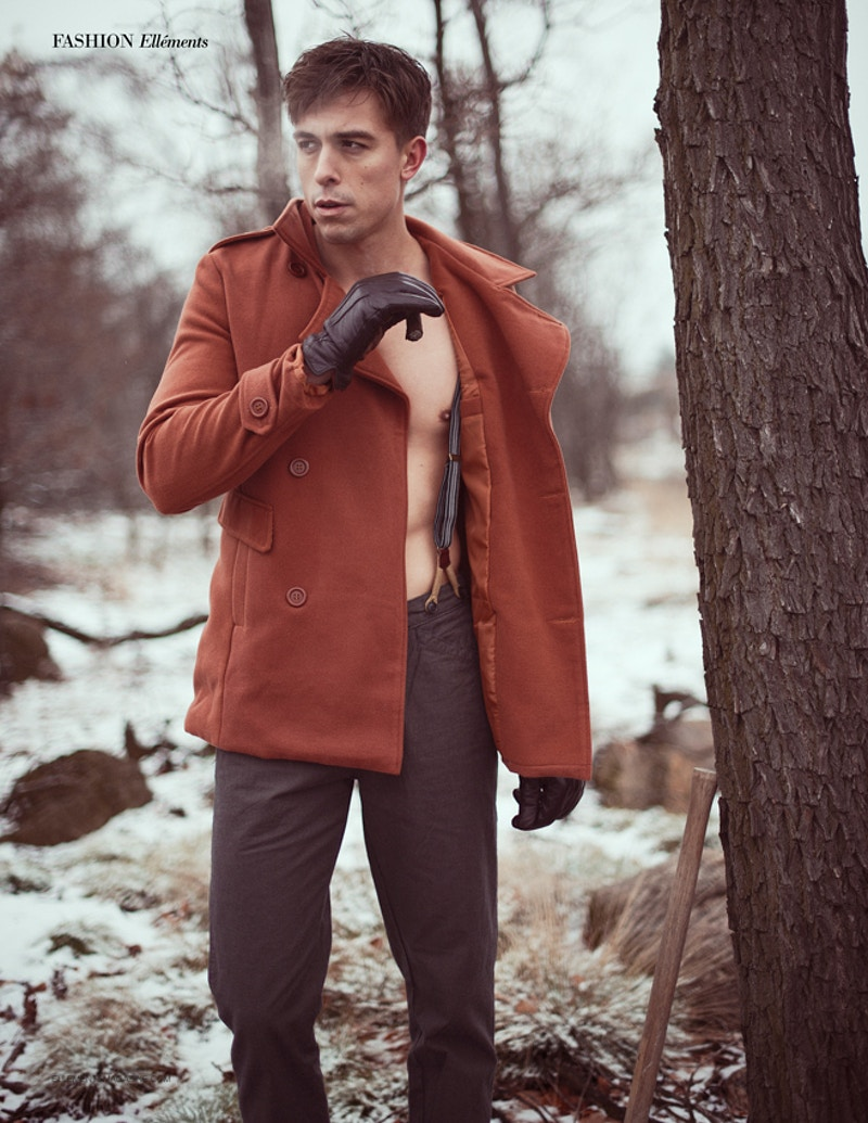 Mike Scocozza Katelynn Walsh THP Tobias Hibbs ANTM Next Top Model winter Palmerton PA snow cigar - Editorial Fashion Portrait Photography Lehigh Valley Philadelphia | Tobias Hibbs