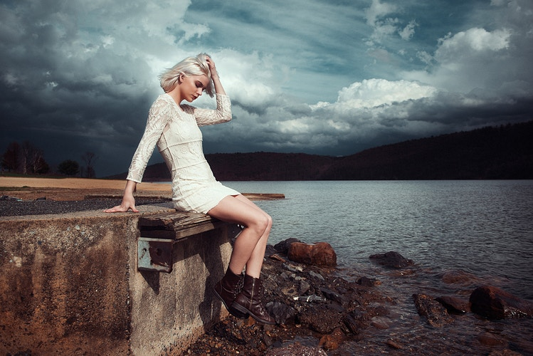 editorial fashion clouds lake storm Stormy Jane Beltzville State Park Tobias Hibbs THP - Editorial Fashion Portrait Photography Lehigh Valley Philadelphia | Tobias Hibbs