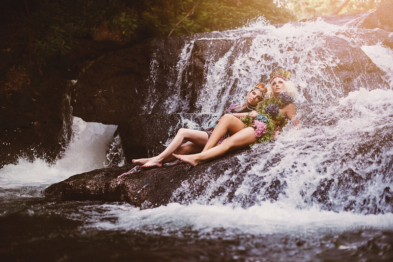 THP Tobias Hibbs Kristen Eissler fashion editorial model Kristy Falon waterfall water Beltzville State Park PA - Editorial Fashion Portrait Photography Lehigh Valley Philadelphia | Tobias Hibbs