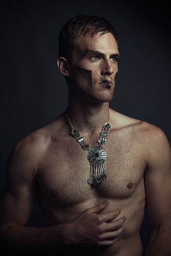 actor Ryan Phillips Jenae Gunderlock mua male beauty abs muscles jewelry editorial model studio - Editorial Fashion Portrait Photography Lehigh Valley Philadelphia | Tobias Hibbs