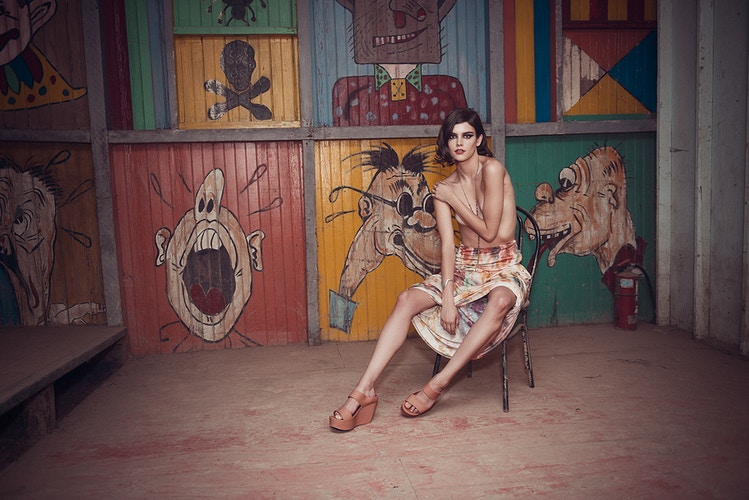 Kristen Coffey Bushkill Theme Park Pennsylvania fashion editorial published Tobias Hibbs model THP clowns topless funhouse - Editorial Fashion Portrait Photography Lehigh Valley Philadelphia | Tobias Hibbs