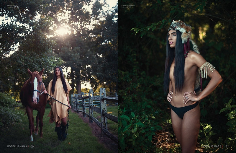 Paris fashion editorial published Tobias Hibbs model THP Fawn Monique MUA Native American history - Editorial Fashion Portrait Photography Lehigh Valley Philadelphia | Tobias Hibbs