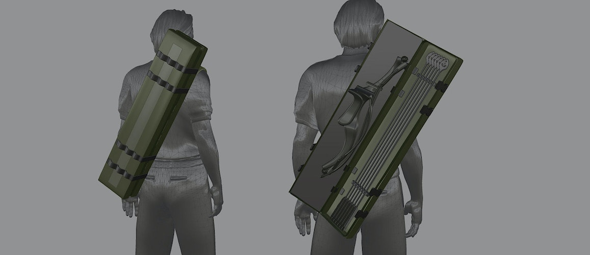 The Wolverine - Harada's Bow Bag & Quiver - Tony Drew | Art Direction & Design