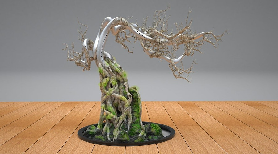 The Wolverine - Bonsai tree for Yashida's mansion foyer - Tony Drew | Art Direction & Design