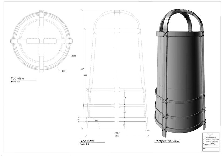 The Wolverine - Exterior Lantern for Yashida's mansion - Tony Drew | Art Direction & Design