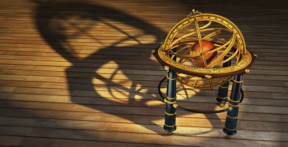 Saint Martins Chart House - Armillary Sphere - Tony Drew | Art Direction & Design
