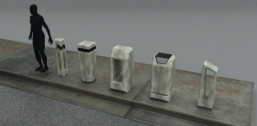 Bollard Concepts for the Lawless area - Tony Drew | Art Direction & Design