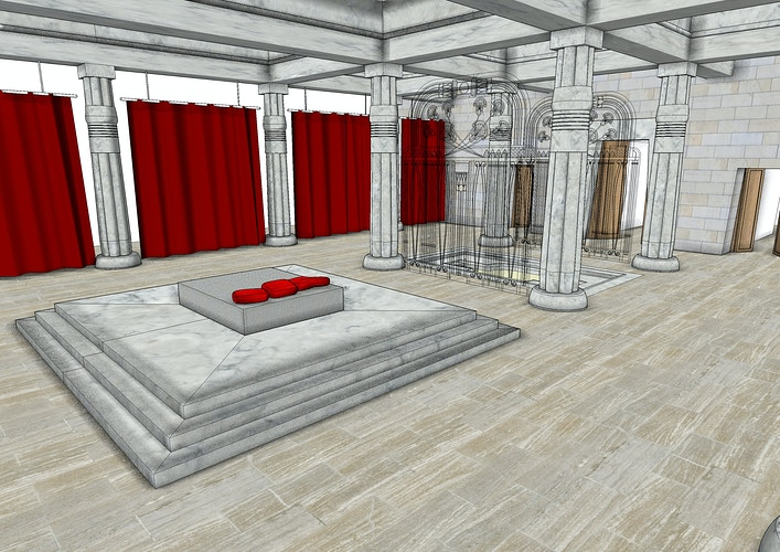 Horus's Bedroom Pavilion - Blocking Concept - Tony Drew | Art Direction & Design