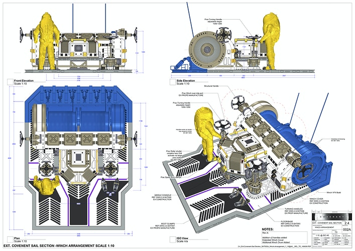 USCSS Covenant Ship Exterior Winch - Working Drawing - Tony Drew | Art Direction & Design