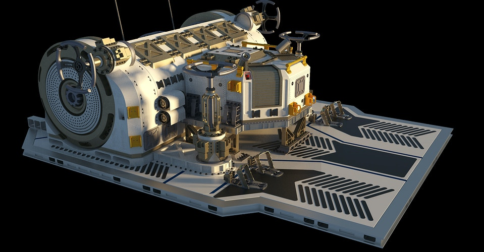 USCSS Covenant Ship Exterior Winch - Finished Design - Tony Drew | Art Direction & Design