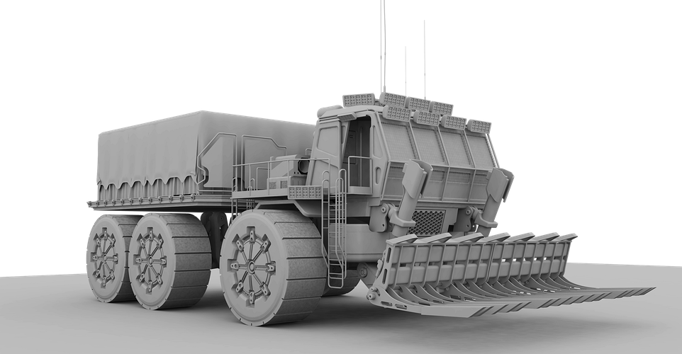 Terraforming Bay Truck - Earlier Concept - Tony Drew | Art Direction & Design