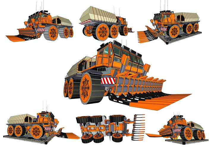 Terraforming Bay Truck - Multi View - Tony Drew | Art Direction & Design