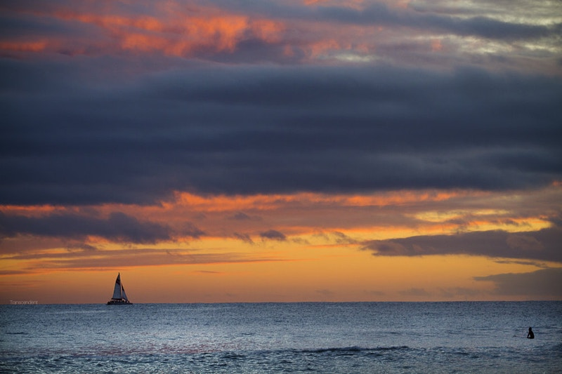 Sail Boat on the Horizon - Transcendent Productions