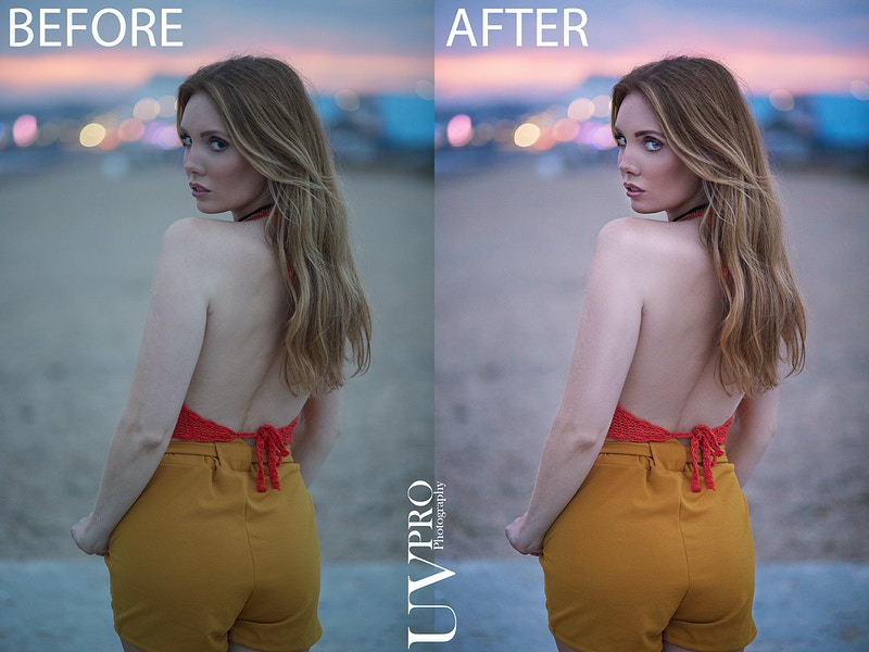 Before And After - UVPRO | Glamour & Fashion Photography