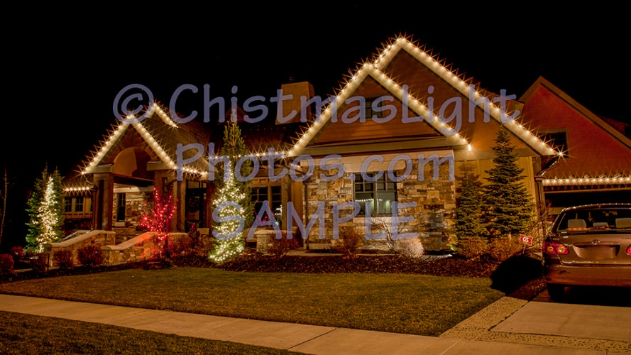 Draper, UT Christmas lights - Vance Brand Photography