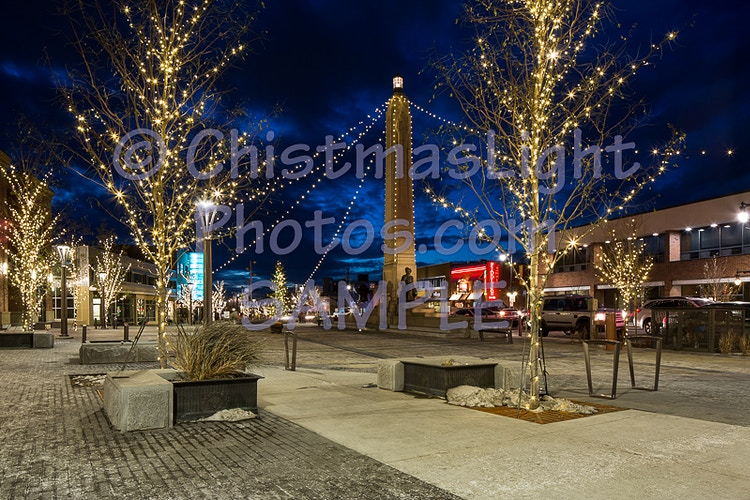 Piller with Christmas Lights - Vance Brand Photography