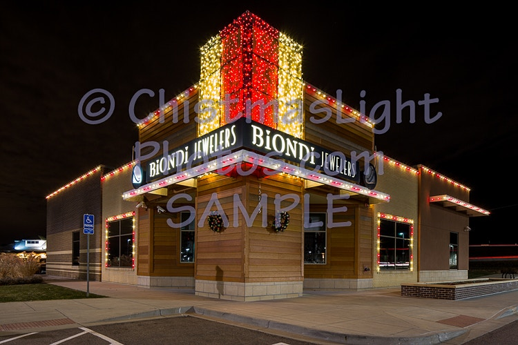 Christmas Lights at the jewelry store - Vance Brand Photography