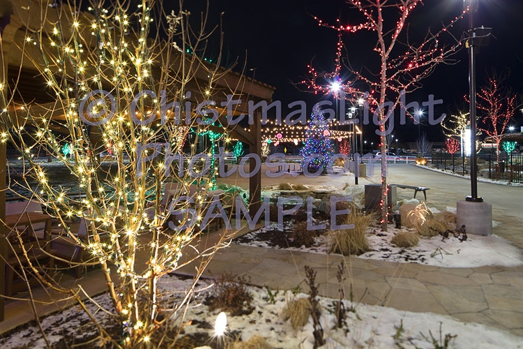 Christmas Lights at the mall - Vance Brand Photography